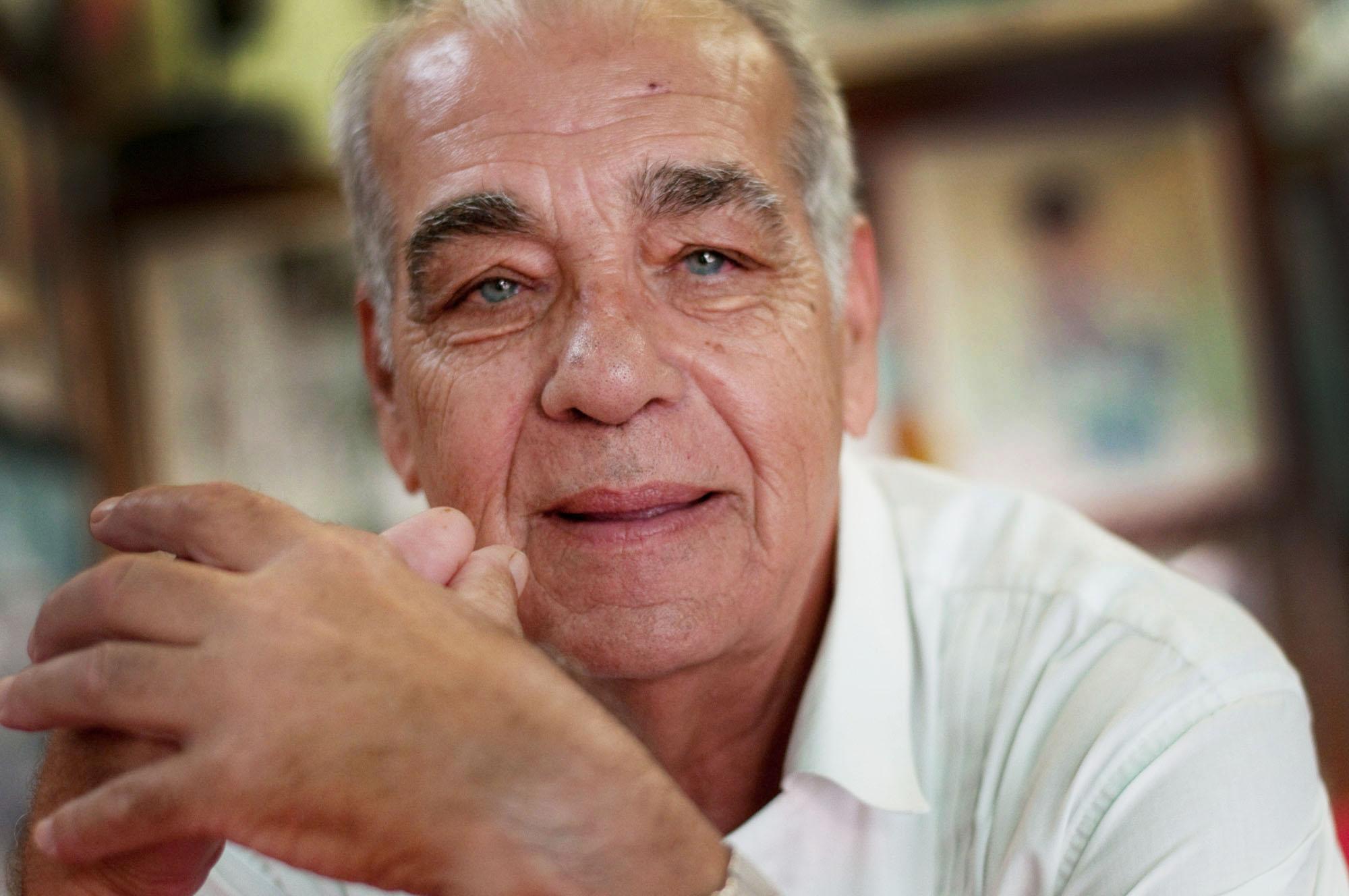 Alfonso Jorge Frías en Casa Teo, un bar de Santa Cruz de Tenerufe dedicado al boxeo. Foto de Sol RIncón Borobia, hecha con Nikon D300S.
